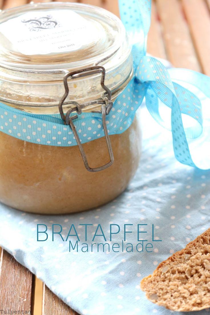 Bratapfelmarmelade Marmelade Bratapfel Weihnachten Rezept Label