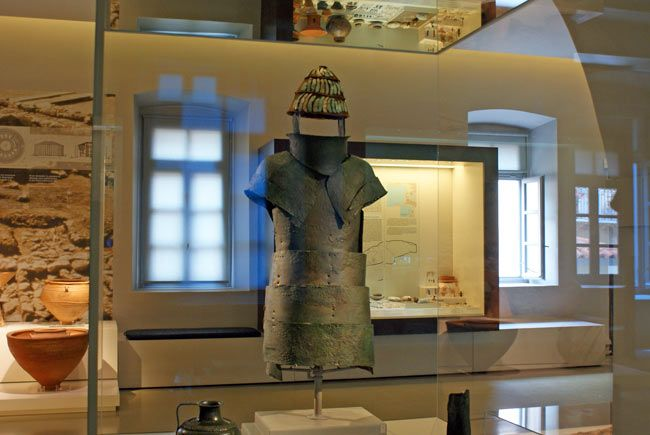 The Dendra cuirass in the Nafplio Archaeological Museum, Greece