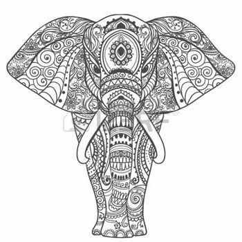 animales: Saludo Tarjeta hermosa con el elefante. Marco de animales hizo en el vector. Tarjetas perfectas, o para cualquier otro tipo de diseño, cumpleaños y otro lado holiday.Seamless dibujado mapa con Elefante.
