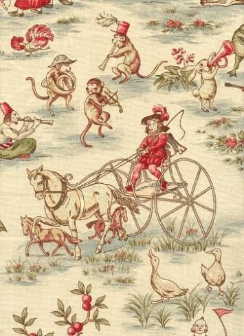 Antique Toile called Topsy Turvey