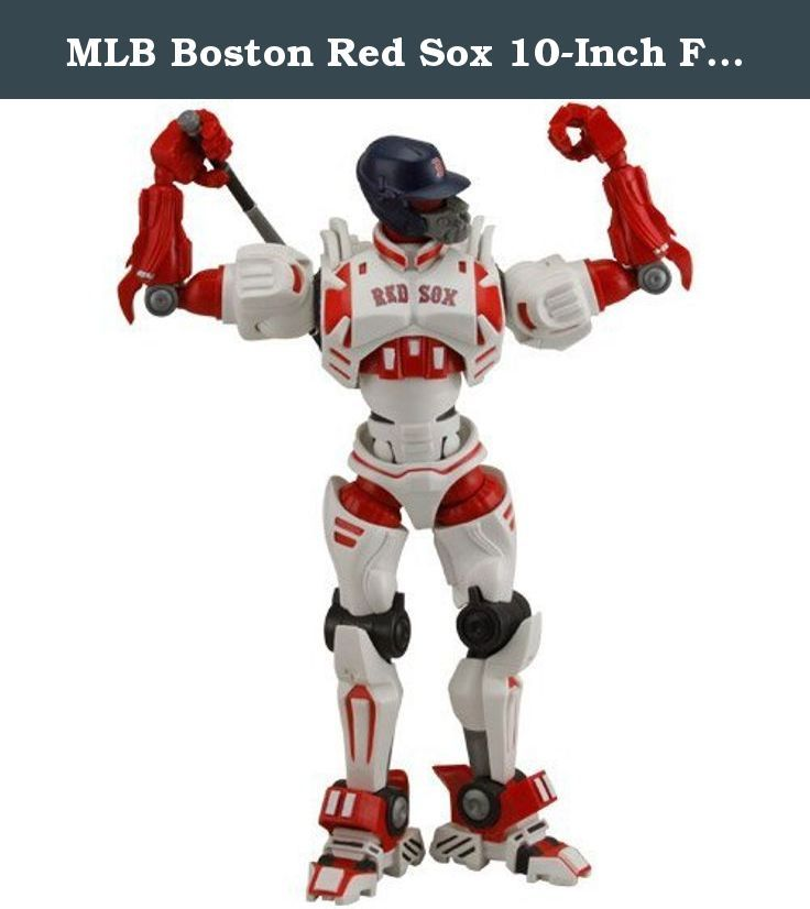 MLB Boston Red Sox 10-Inch Fox Sports Team Robot by Foamhead. Fully articulated joints; Removable bat; Team logo and colors; Fox Sports logo;.
