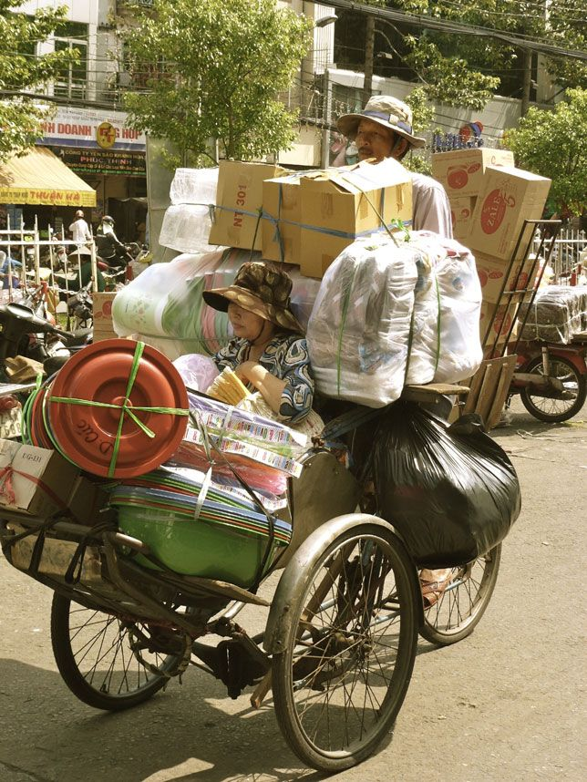 Wares on wheels in Ho Chi Minh City, Vietnam    Louise Raggett of Ledbury, Herefordshire