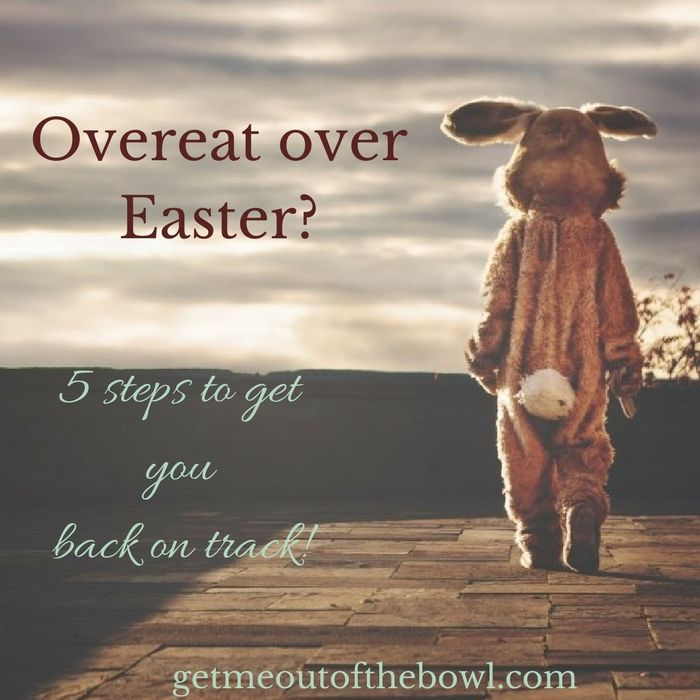 Overeat over Easter? Dont throw in the towel with your weightloss goals! Here's how to get back on track!!