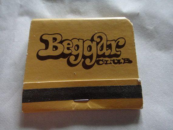 Vintage Beggar Club Dallas Texas Match Book by ShoppingLounge