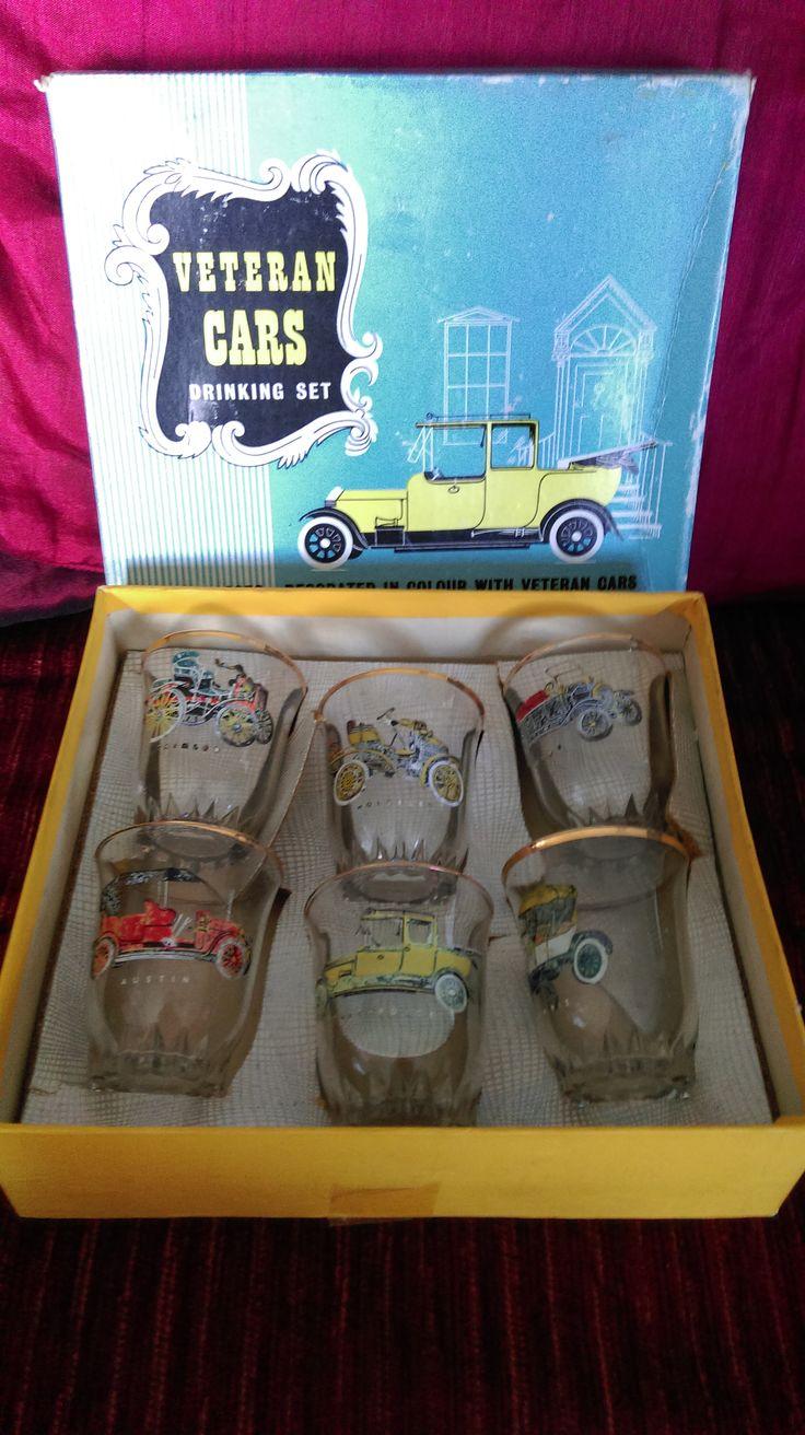 1950's Vintage Car Drinking Set