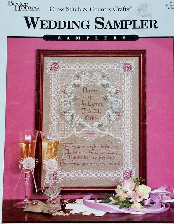 WEDDING SAMPLER By Better Homes and Gardens - Counted Cross Stitch Pattern Chart via Etsy