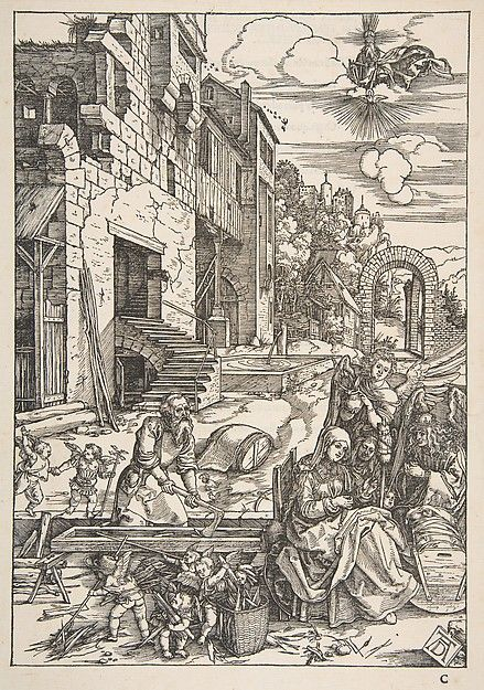 Albrecht Dürer   The Sojourn of The Holy Family in Egypt, from The Life of the Virgin, Latin Edition, 1511   The Met
