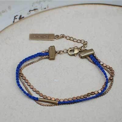 Bracelet chainette et tresse
