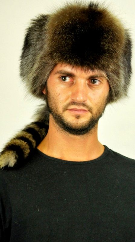 For those men wishing to be trendy and flaunt their own style even in cold winter. This Russian style hat is soft, warm, trendy. True tail. Natural color with brown, grey and black shades. Each of our fur accessories is handmade in Italy.   www.amifur.com