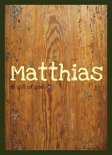 Baby Boy Name: Matthias (muh-thy-us). Meaning: Gift of God. Origin: Hebrew; English; Irish. http://www.pinterest.com/vintagedaydream/baby-names/