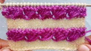 Shells on a Garter-stitch Background - YouTube