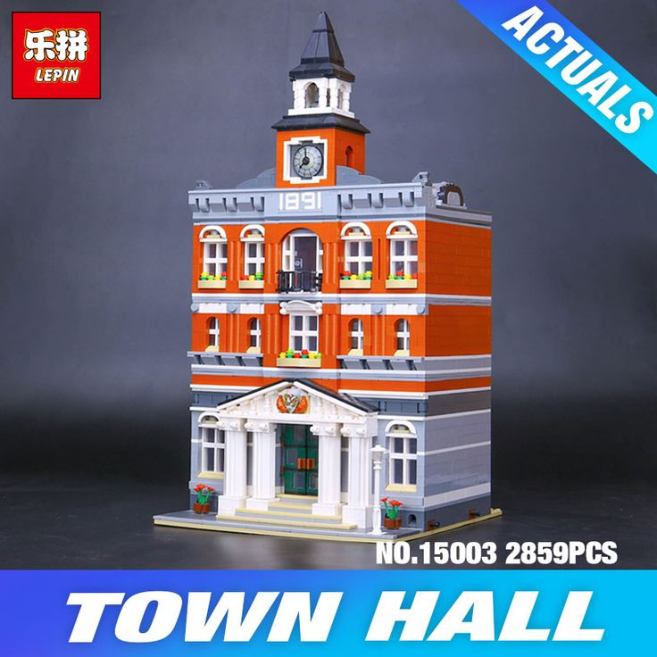 LEPIN Town Hall (LEGO Knockoff) 2859 pieces Dream City 5/5