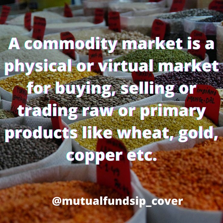 Commodity Market in 2020 Commodity market, Investing