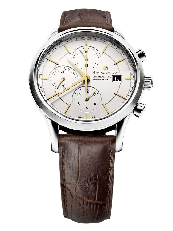 Les Classiques Chronographe. Featuring automatic movement ML 112, chronograph, date. Case in stainless steel, 41mm. Genuine leather strap. Water resistant to 30m. LC6058-SS001-131.