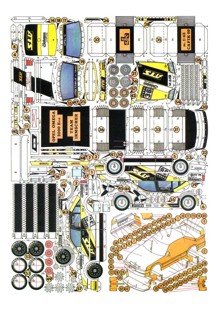 ... papercraft cut paper cars ppc stencil ideas peugeot forward opel omega