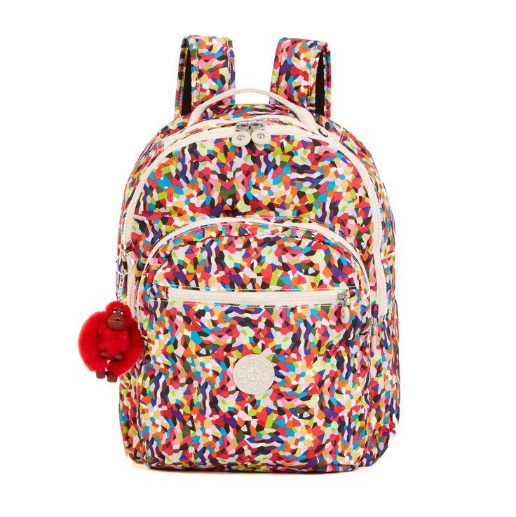 Seoul Printed Laptop Backpack - Multi Splatter | Kipling