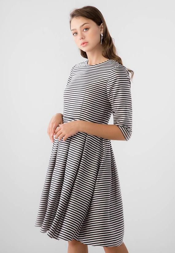 7dca30aa1e Zoe Mini Striped Dress Mini Silk Satin Dress Minimalist