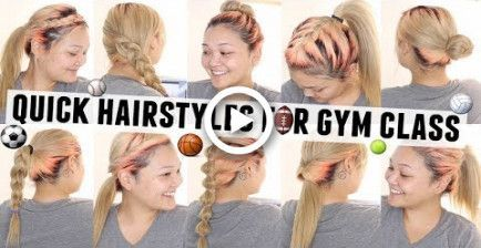 #hairstyles #classpe #quick #easy #for #gym10 Quick & Easy Hairstyles