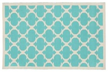 Magic Carpet (Non-Flying Edition, Aqua) - contemporary - kids rugs - The Land of Nod