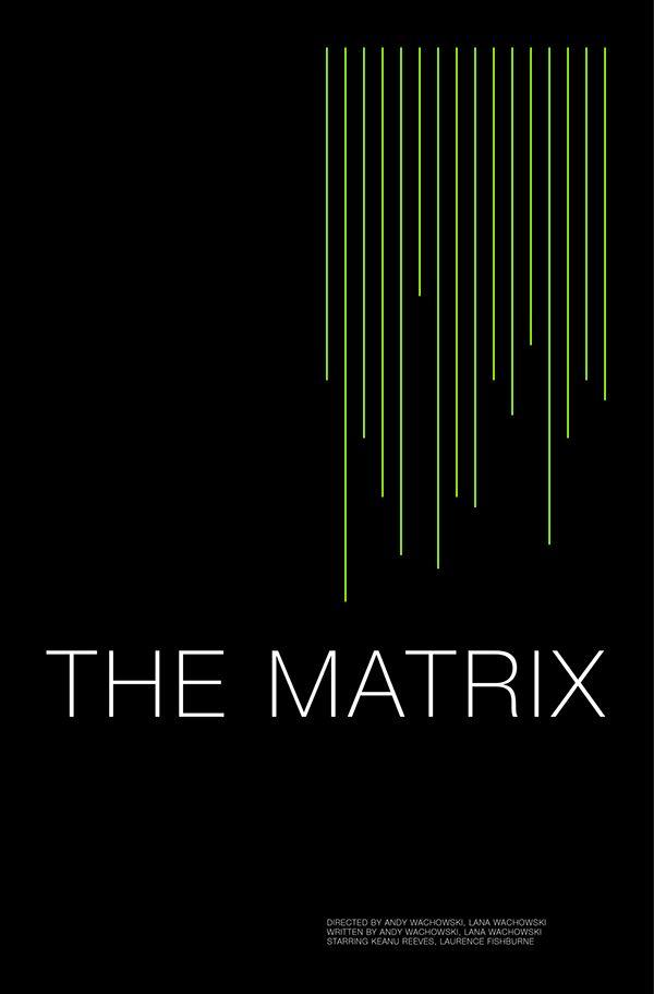The Matrix (1999) ~ Minimal Movie Poster by Andrew Lynne #amusementphile