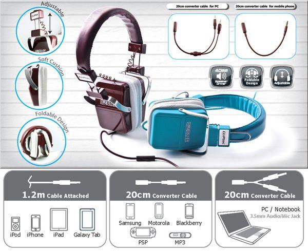 CLiPtec Stereo Multimedia Headphone 'OZONE' BMH880 -- Hanya Rp. 237.000,-