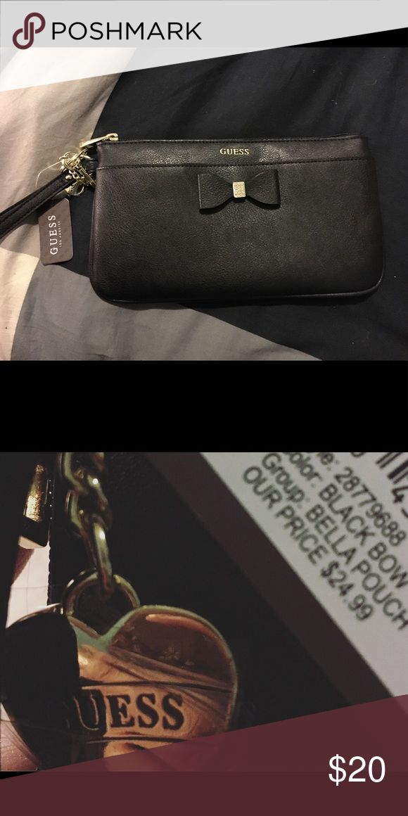 guess clutch Black guess clutch, brand new with tags Guess Bags Clutches & Wristlets