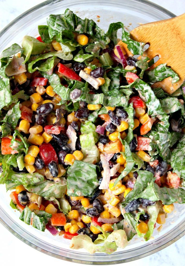 Black bean taco salad (could use Greek yogurt instead of sour cream)