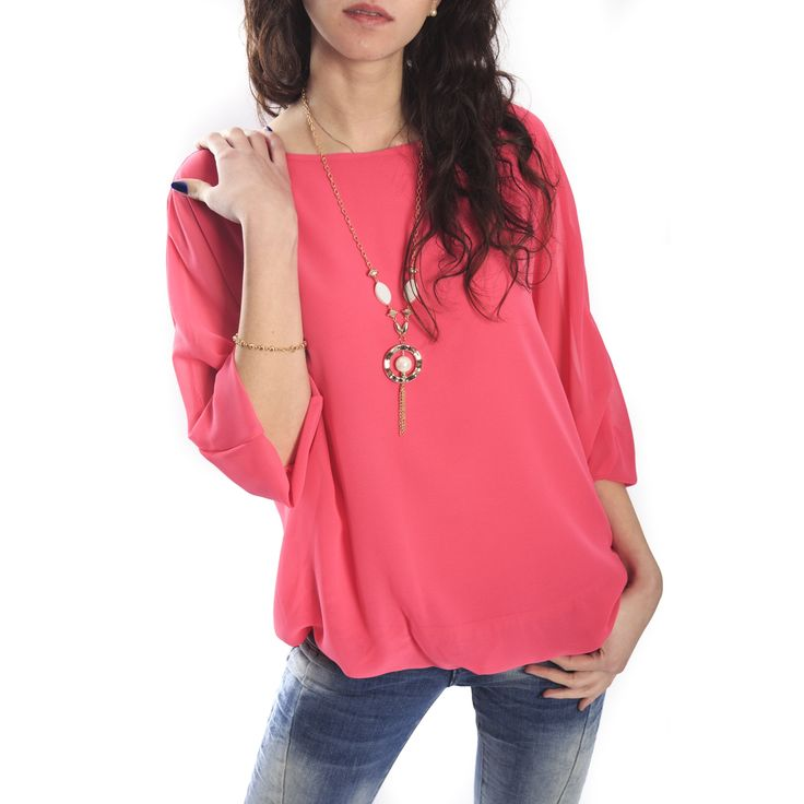 SLIDE OF LIFE Blouse FUXIA NEW COLLECTION SPRING 2015