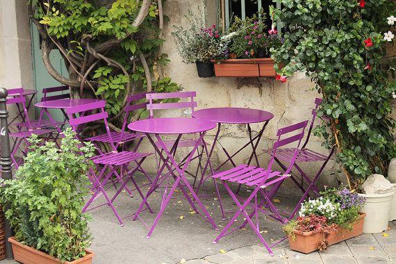 Purple Cafe Chairs on ile de la cite Paris Cafe