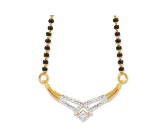 Wonderfully designed real diamond mangalsutra crafted with 18kt gold. #indian #jewellery
