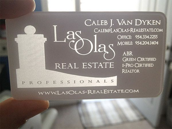 19 best plastic business cards images on pinterest plastic white plastic business card laser engraved to transparent clear reheart Gallery