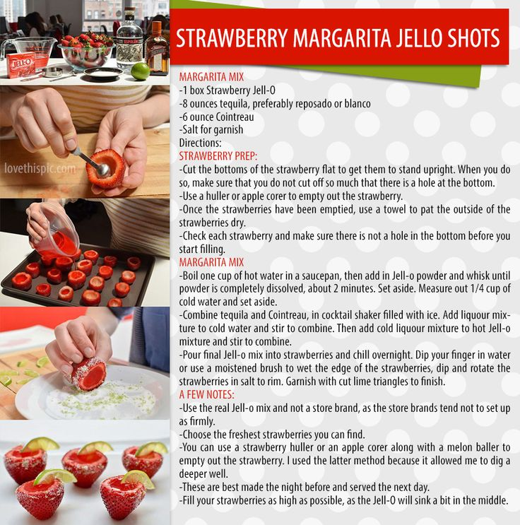 strawberry margarita jello shots- yum!