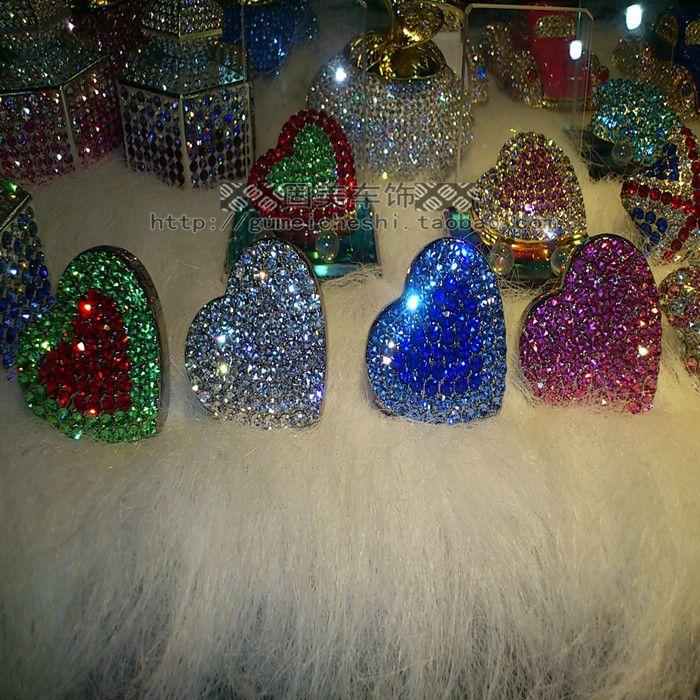 Новый изысканный форме сердца любовь супер выходе флэш автомобиля духи импортированы Чешские камни ароматерапии красоты взрыв - Taobao