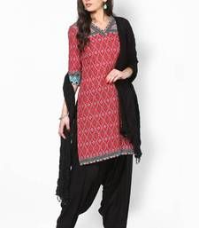 Buy Black Solid Patiala Salwar With Dupatta - PAT1 punjabi-suit online