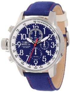 Invicta Men's I-Force Chronograph Matte Blue Dial Royal Blue Cloth Watch