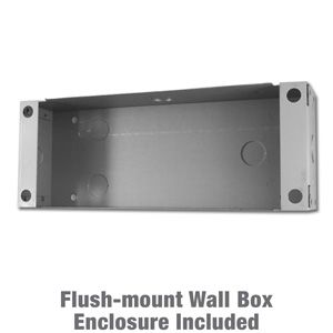 Wall mounted enclosure for doorstations or intercoms