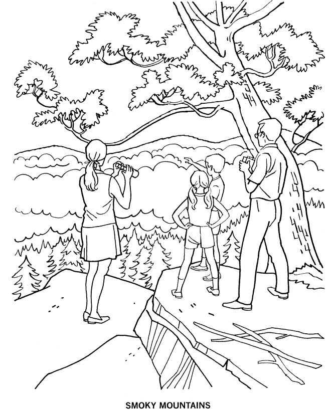 National Parks Colorado Coloring Pages