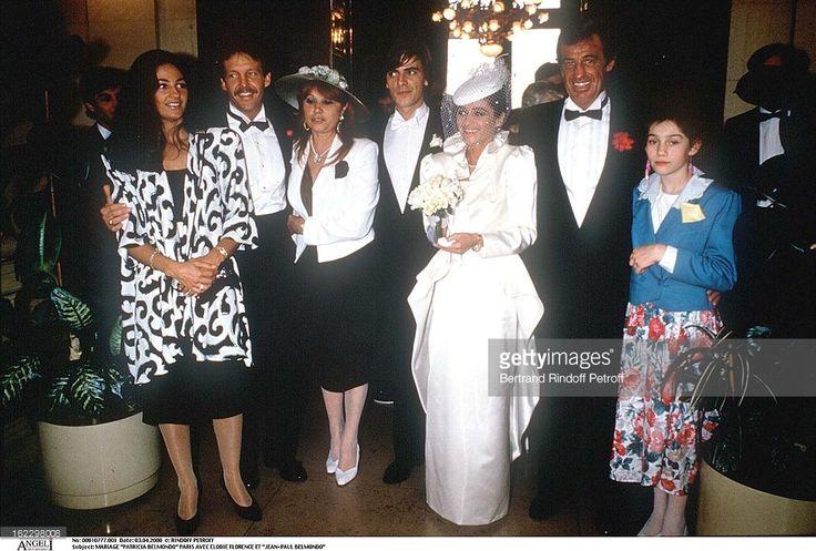 Patricia Belmondo's wedding, Paris, with Elodie Florence and Jean-Paul Belmondo .