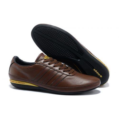 Adidas Porsche Typ 64 Mens Genuine Leather Shoes Brown