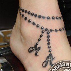 девушка татуировка подъем ноги цепочка - Поиск в Google