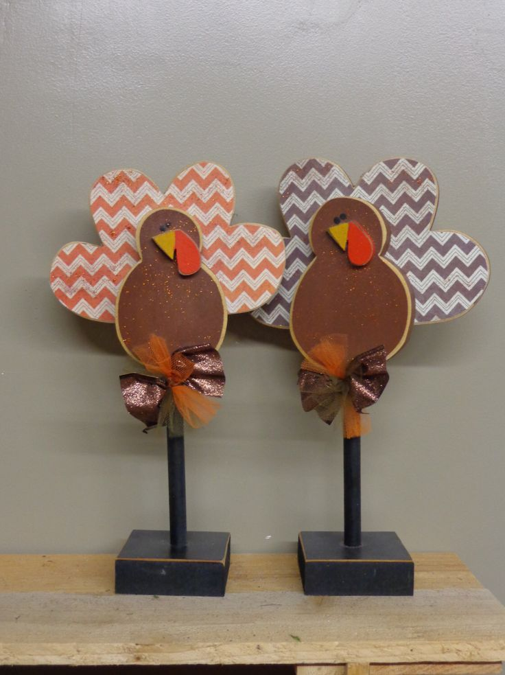 Thanksgiving Decor, Fall Decor, Turkey Decor, Turkeys on stands,Set of 2 by HillbillyandME on Etsy https://www.etsy.com/listing/250427054/thanksgiving-decor-fall-decor-turkey