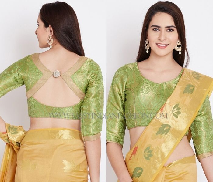 how to cut saree blouse pattern