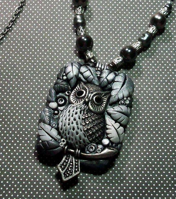 Silver Owl Pendant by MandarinMoon, via Flickr