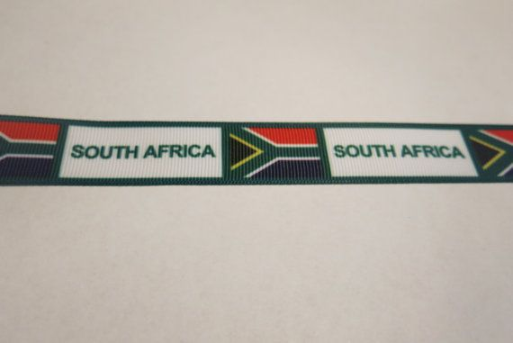 7/8 inch South Africa grosgrain ribbon by the by BeautymeFashion