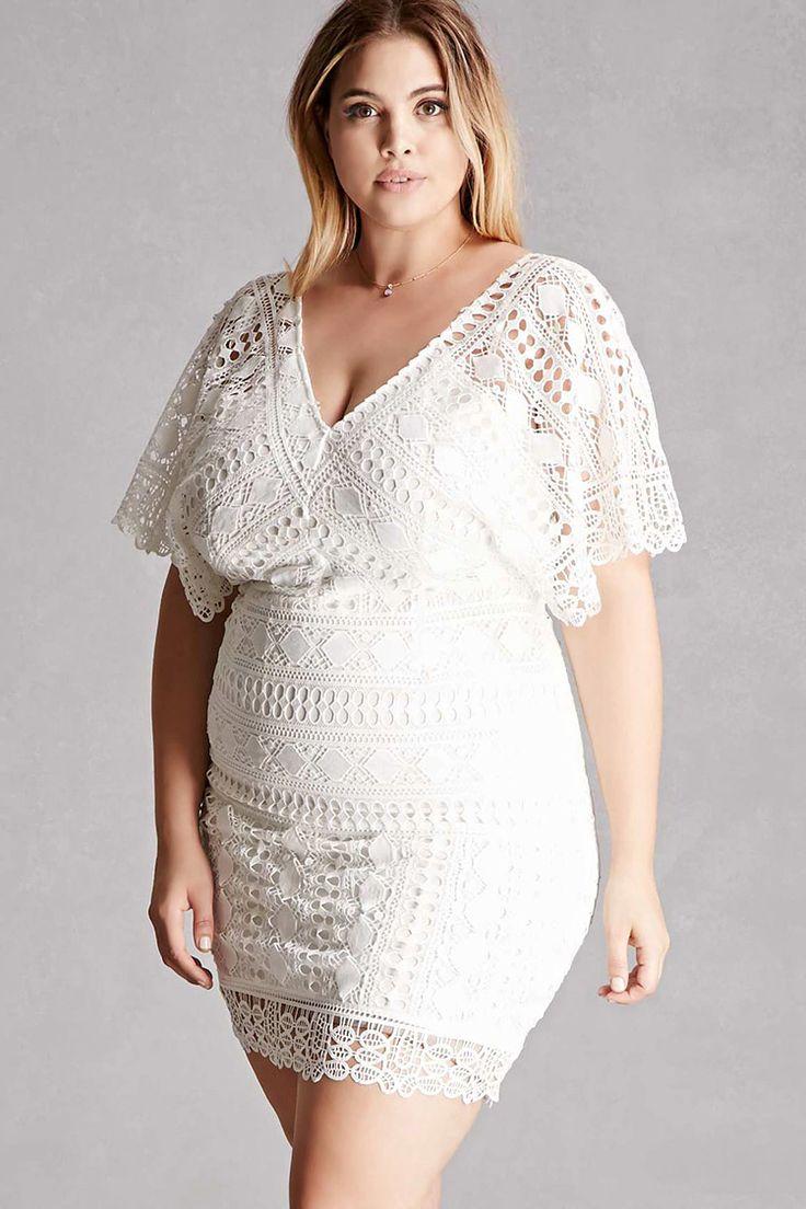 Plus Size Crochet Dress