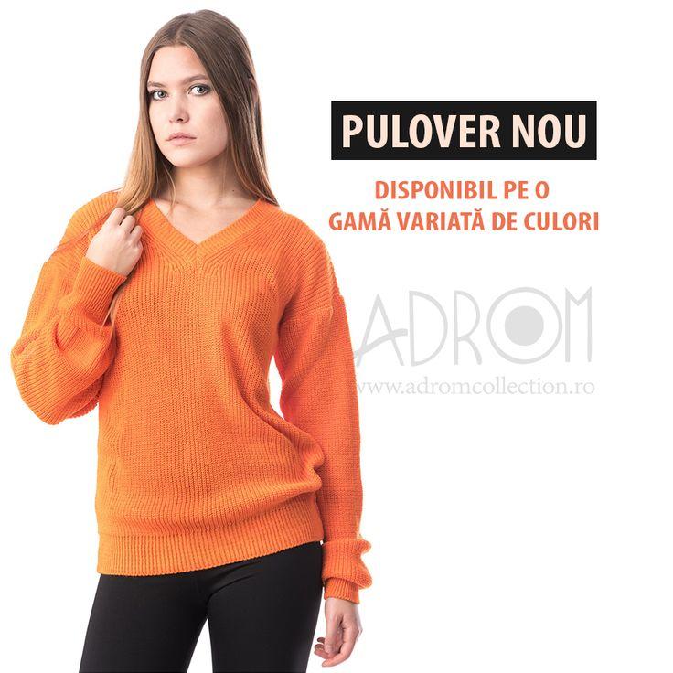 Puloverul 1021 a sosit în stocul magazinului  Adrom Collection. Și pentru ca tu să te poți bucura de varietate, acesta este disponibil pe 11 culori. Comandă acum: http://www.adromcollection.ro/1004-pulover-angro-1021.html