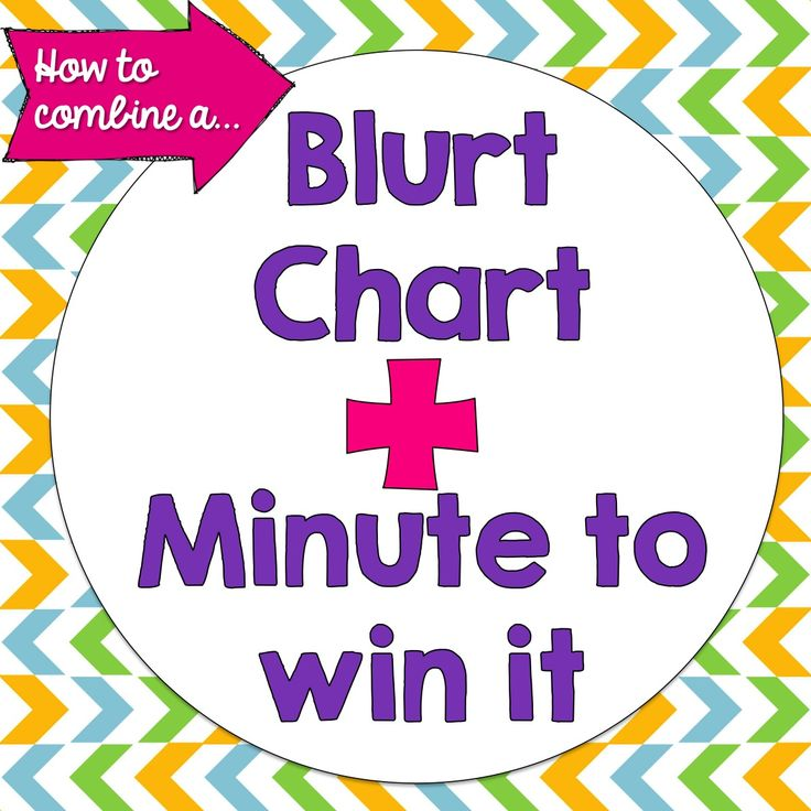 Bright Ideas Blog Hop! Blurt Chart+Minute to Win It Fridays
