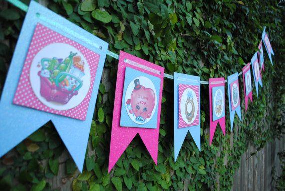 Shopkins Banner, Shopkins, Shopkins Room Decor, Shopkins Playroom Decor, Shopkins Bedroom Decor, Shopkins Birthday, Shopkins Customizable