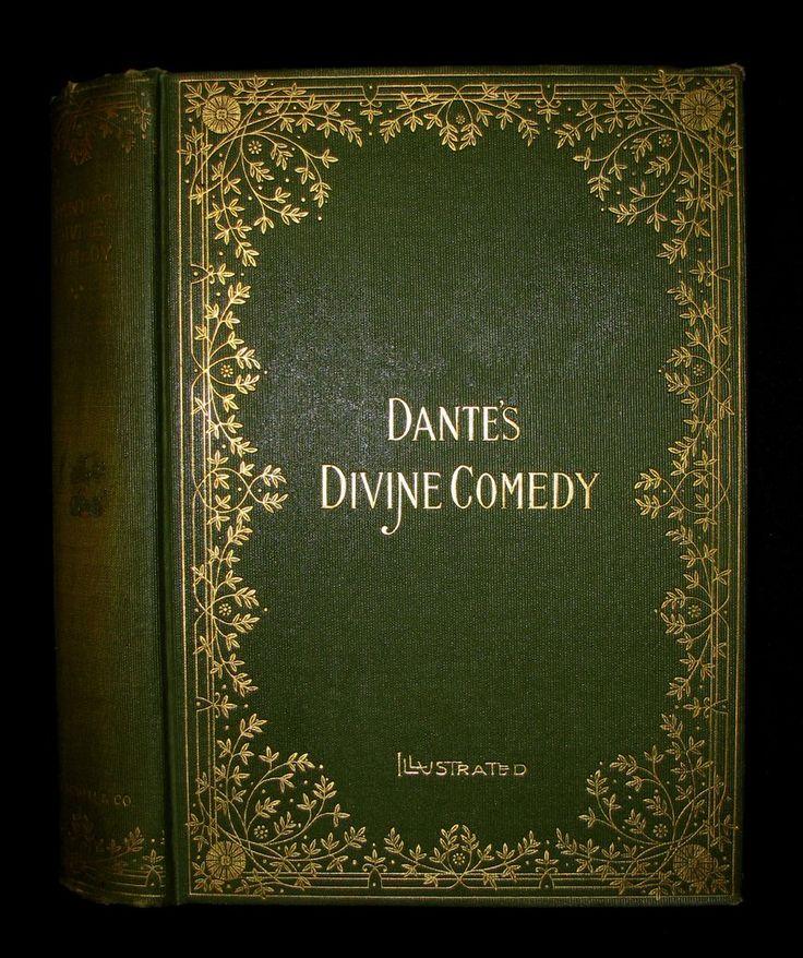 1897 Rare Victorian Book - THE DIVINE COMEDY OF DANTE ALIGHIERI: Toget – MFLIBRA - Antique Books