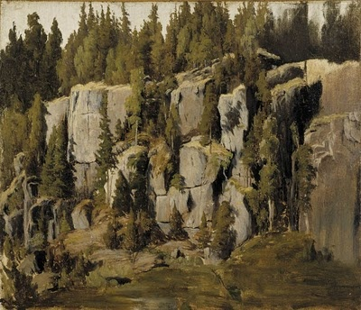 """Rapakivikallioita,"" Fanny Churberg (1845 - 1892)"
